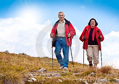 Hiking seniors 20