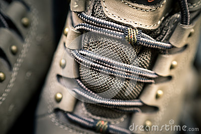 Hiking shoe details
