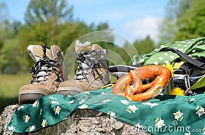 Hiking shoes Landscape