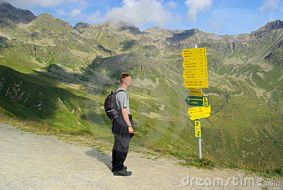 Hiking to mountain Furgler