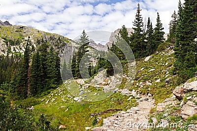 Hiking Trail Through The Colorado Rocky Mountains