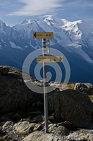 Hiking trail sign