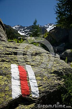 Free Hiking Trail Symbol Royalty Free Stock Photo - 14171145
