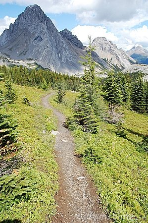 Hiking trail to mountains