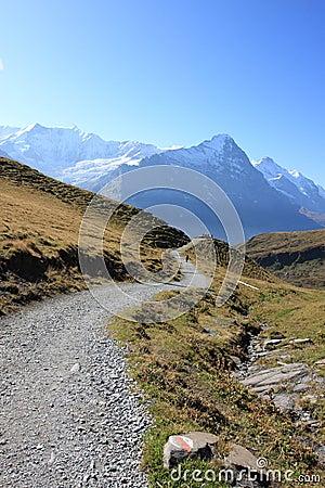 Hiking trails to Jungfrau Swiss Alps