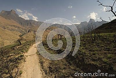 Hiking up Kwa Zulu Natal
