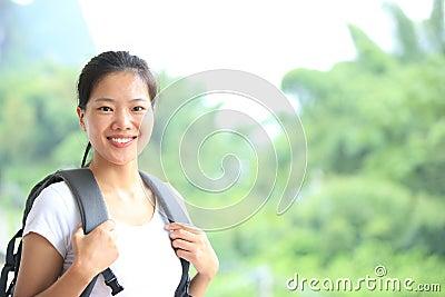 Hiking woman in yangshuo