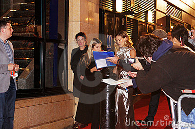 Hilary Swank At Conviction Premiere Editorial Stock Image
