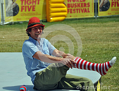 Hilby The Skinny German Juggle Boy at World Buskers Festival Editorial Image