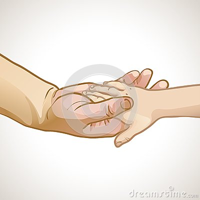 �hildren s hand in the hand of an adult