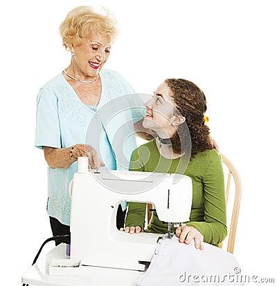 Hilfe von der Großmutter