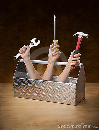 Hilfsmittel-Hilfsmittel-WerkzeugkastenToolkit