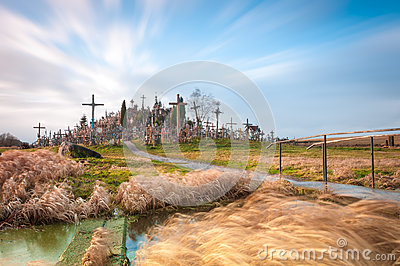 Hill of crosses near Siauliai, Lithuania, Europe.