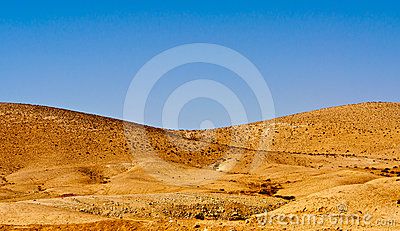 Hill in desert