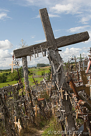 Free Hill Of Crosses. Lithuania. Royalty Free Stock Image - 11042206