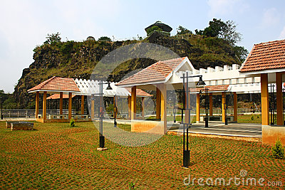 Hill View Park at Idukki, Kerala with Rock formation on Background