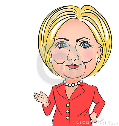 Free Hillary Clinton Caricature Royalty Free Stock Images - 70220259
