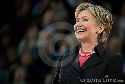 Hillary Clinton - Horizontal Smiling 2 Editorial Stock Photo
