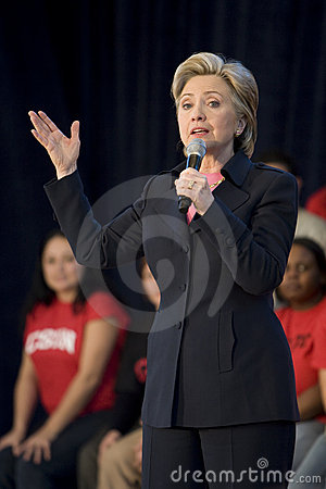 Hillary Clinton Rally Stock Photography - Image: 4227602