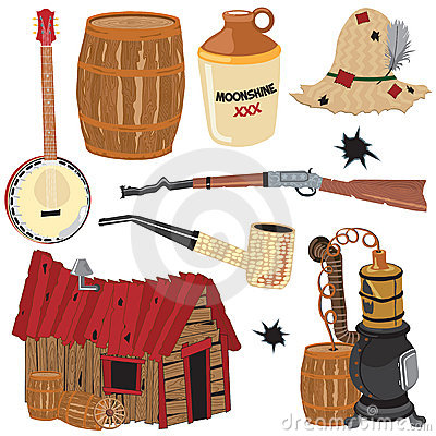 Hillbilly clipart icons and elements