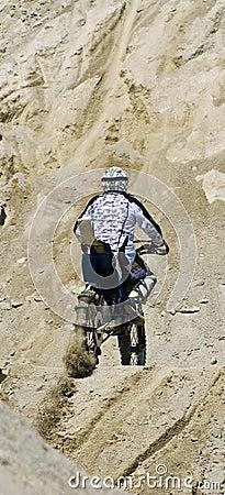 Hillclimber on motorbike