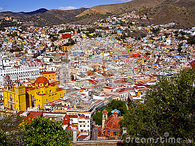 Hills of Guanajuato Mexico Editorial Photography