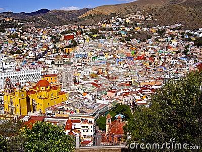 Hills of Guanajuato Mexico Editorial Photography