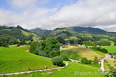 Hills near Gruyeres castle, Switzerland