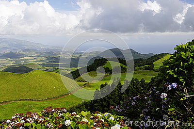 The hills of Sao Miguel island, Azores,