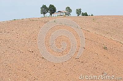 Hills were plowed.