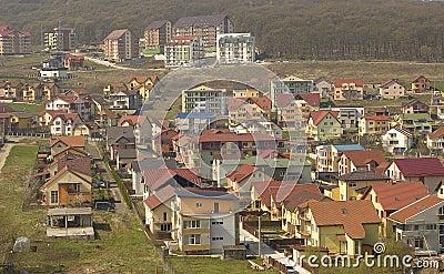 Hillside housing estate.