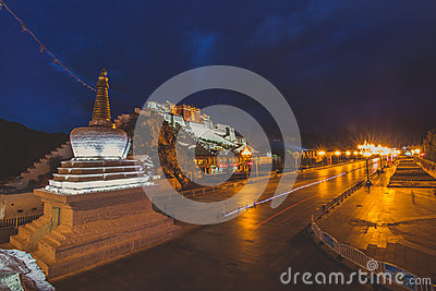 Hillside Palace At Night Free Public Domain Cc0 Image