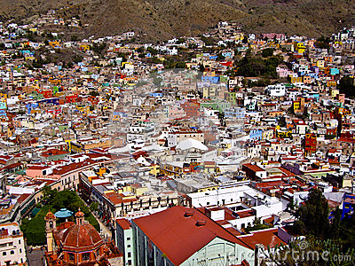 Hillside Town of Guanajuato Mexico Editorial Stock Photo