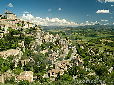 Hilltop town in Provence