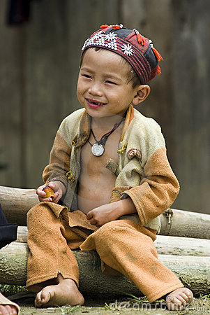Hilltribe smile Editorial Stock Image