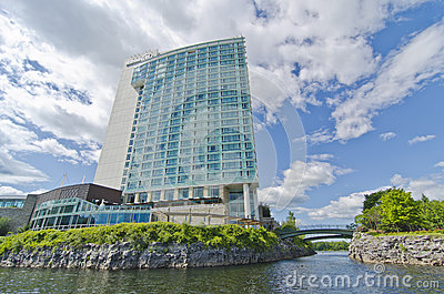 Hilton Lac-Leamy Hotel Gatineau, Quebec, Canada Editorial Photography