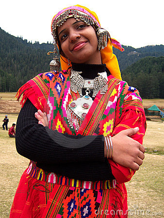 Himachali girl Editorial Image