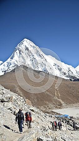 Himalay backpacking Editorial Image