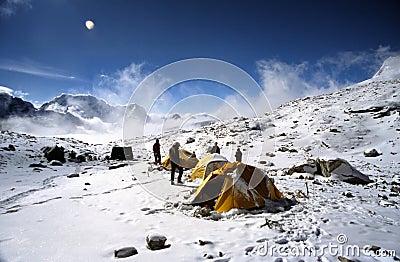 Himalayan camp