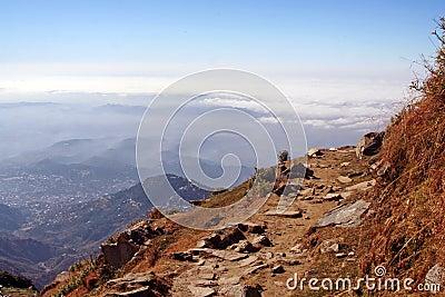 Himalayan high Trekking Routes in Kangra, India