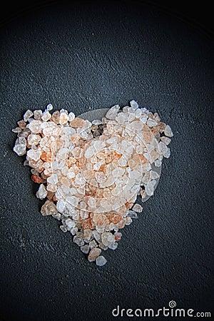 Himalayan salt on a black slice