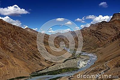 Himalayan scenic. Zanskar valley