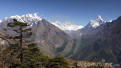 Himalaya Mountains Landscape Nepal