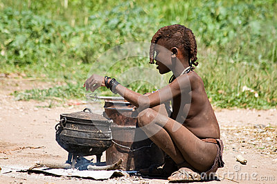 Himba boy Editorial Stock Image