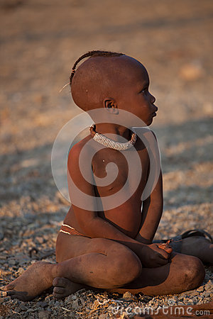 Himba child Editorial Stock Image