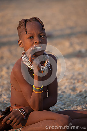 Himba child Editorial Photography