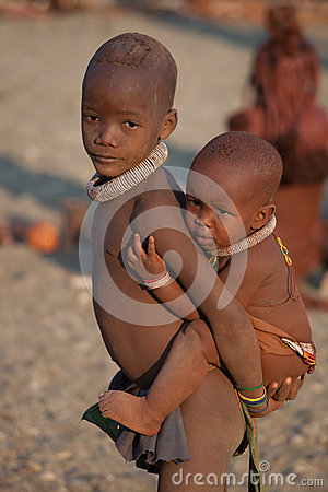Himba children Editorial Photography