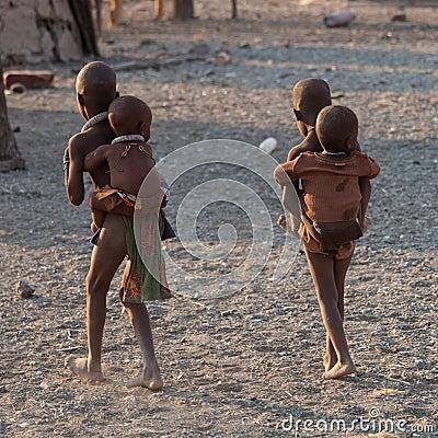 Himba children Editorial Stock Photo