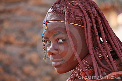 Himba girl in Namibia Editorial Image
