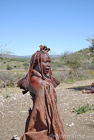 Himba woman. Native african peolple